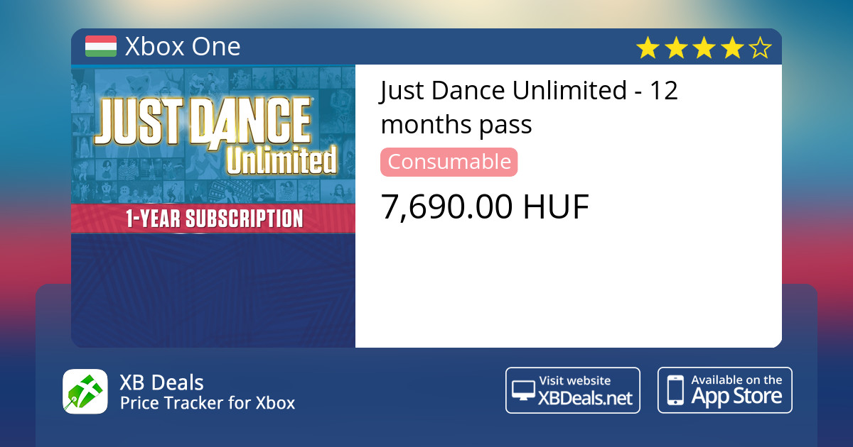 Just Dance Unlimited - 12 months pass Xbox One — buy online and track price  - XB Deals Hungary