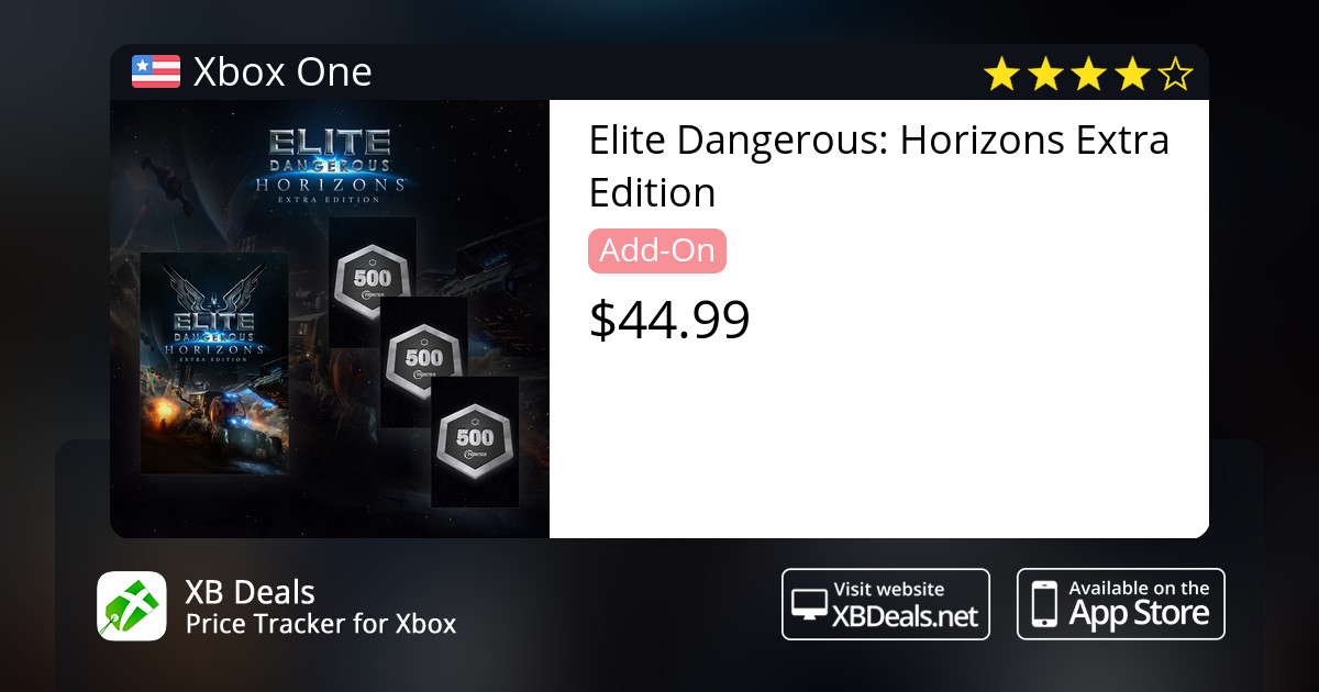 Elite Dangerous: Horizons Extra Edition Xbox One — buy online and track  price - XB Deals United States