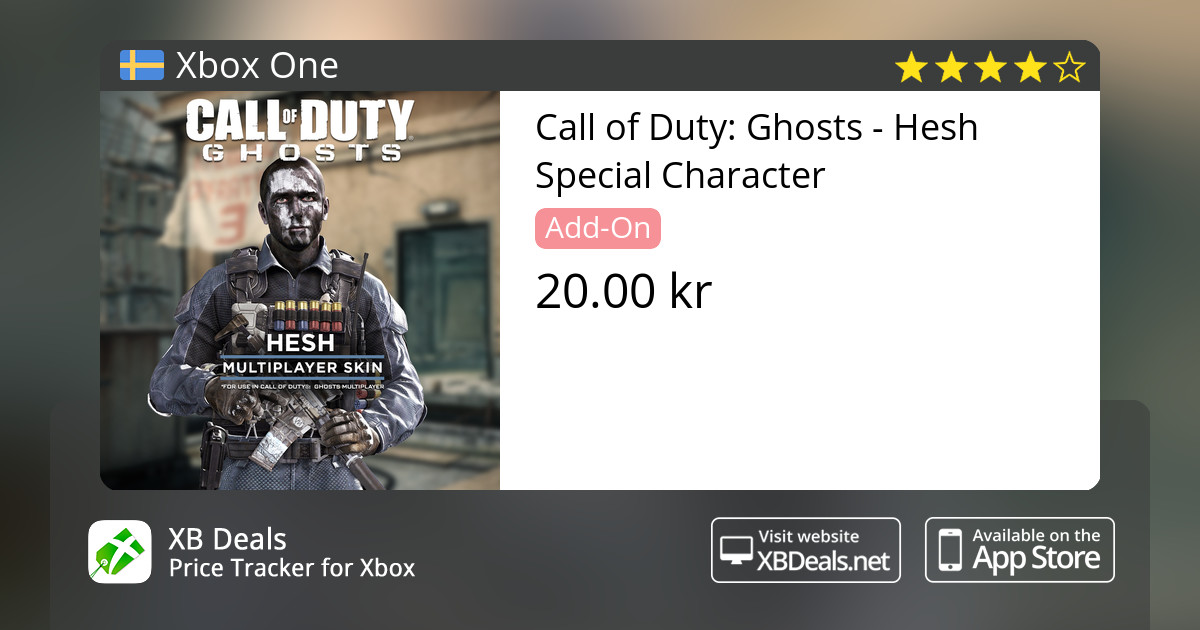 Call of Duty: Ghosts - Hesh Special Character Xbox One — buy online and  track price - XB Deals Sweden