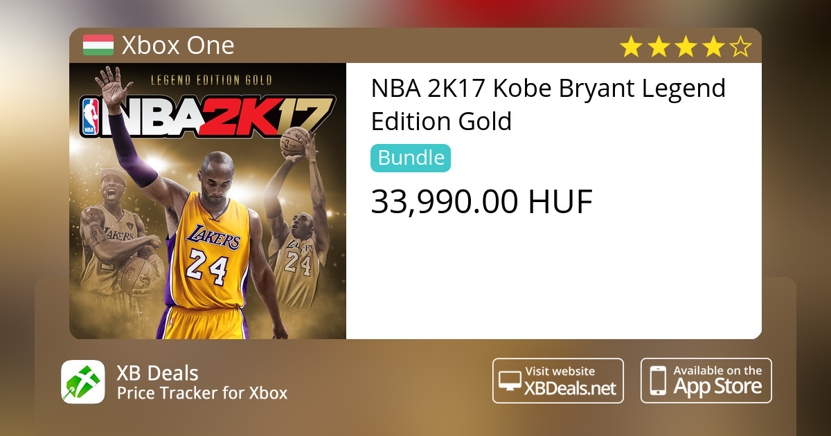 Nba 2k17 Kobe Bryant Legend Edition Gold Xbox One Buy Online And Track Price Xb Deals Hungary