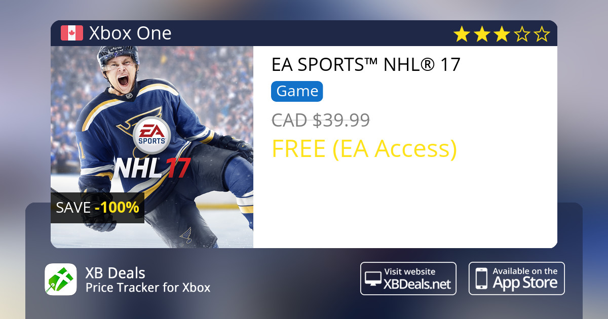 100 Discount On Ea Sports Nhl 17 Xbox One Buy Online Xb Deals
