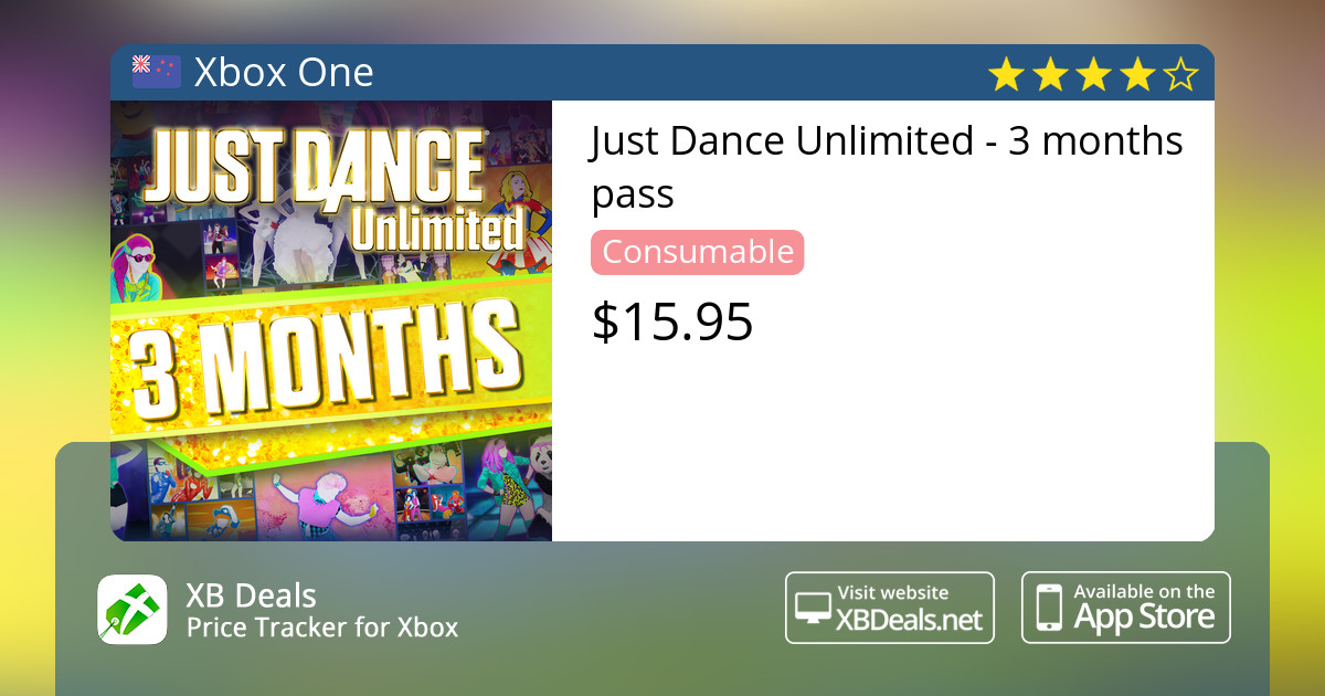Just Dance Unlimited - 3 months pass Xbox One — buy online and track price  - XB Deals New Zealand
