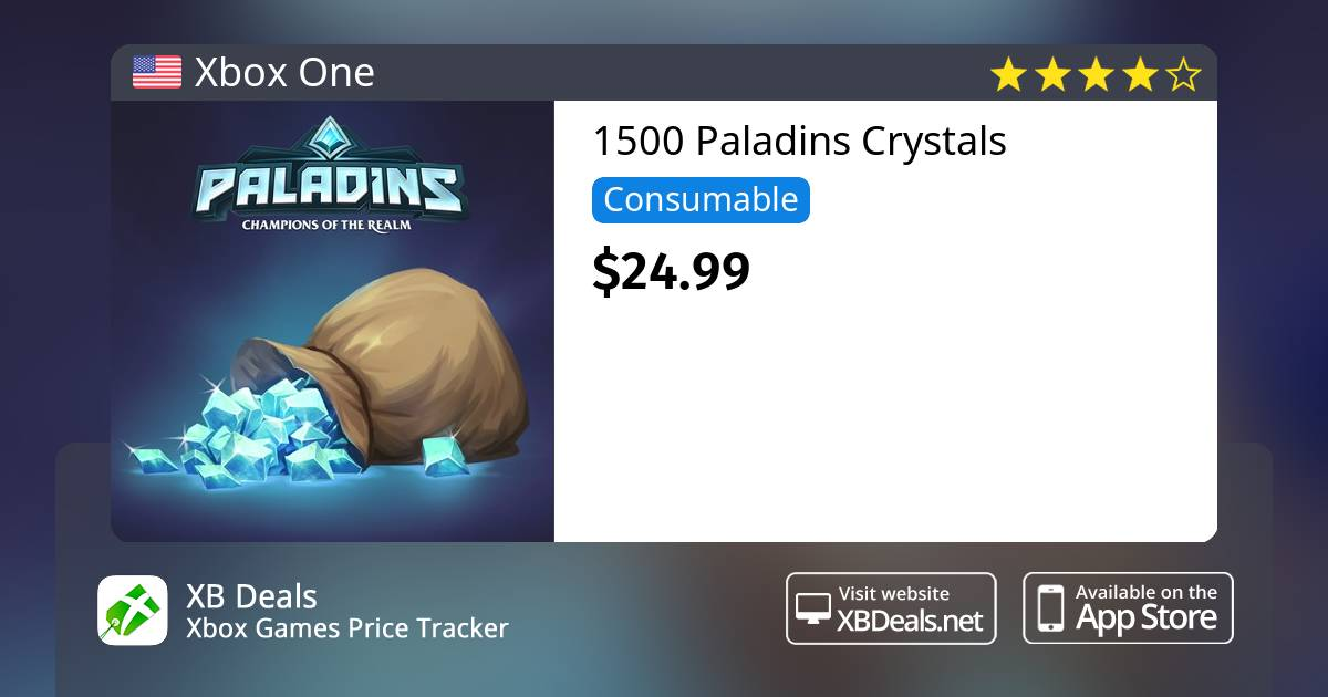 1500 Paladins Crystals Xbox One — buy online and track price - XB Deals  United States
