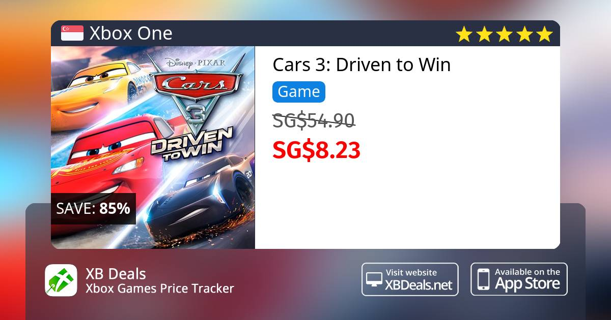 60 Discount On Cars 3 Driven To Win Xbox One Buy Online Xb