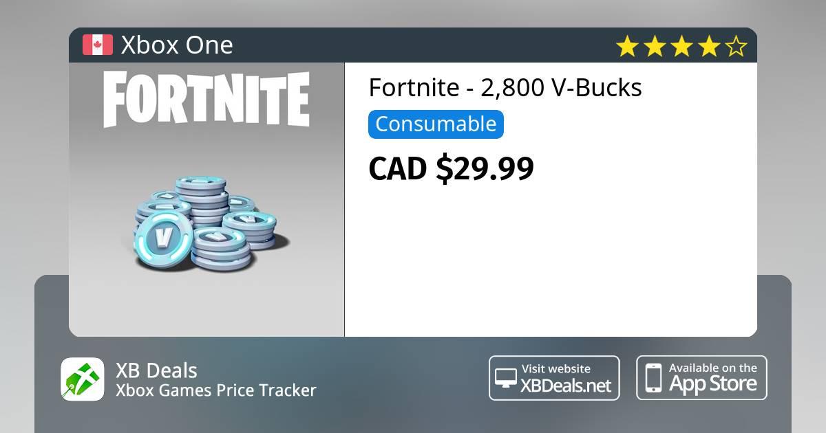 Fortnite 2500 300 Bonus V Bucks Xbox One Buy Online And Track Price Xb Deals Canada