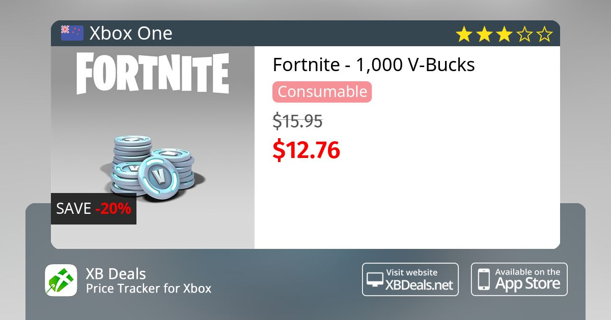Fortnite 1 000 V Bucks Xbox One Buy Online And Track Price Xb