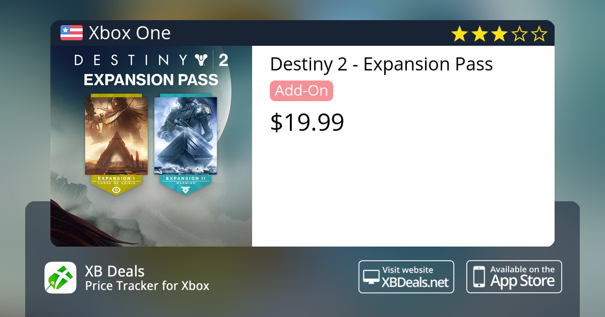 c30e62e4c9a Destiny 2 - Expansion Pass Xbox One — buy online and track price - XB Deals  United States
