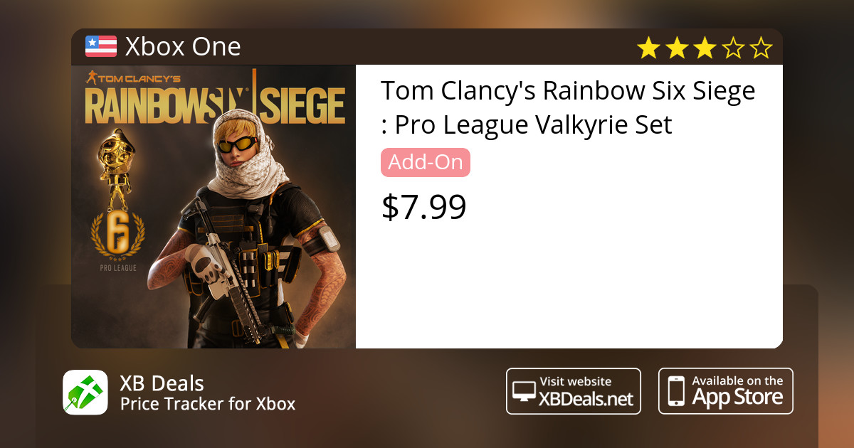 Tom Clancy's Rainbow Six Siege : Pro League Valkyrie Set Xbox One — buy  online and track price - XB Deals United States