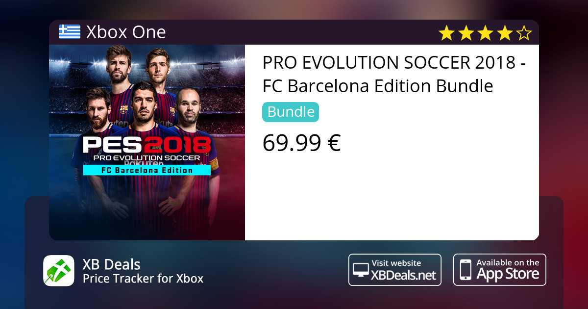 PRO EVOLUTION SOCCER 2018 - FC Barcelona Edition Bundle Xbox One — buy  online and track price - XB Deals Greece