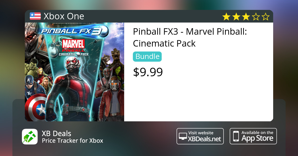Pinball FX3 - Marvel Pinball: Cinematic Pack Xbox One — buy online and  track price - XB Deals United States