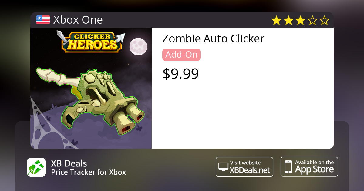 Zombie Auto Clicker Xbox One — buy online and track price - XB Deals United  States