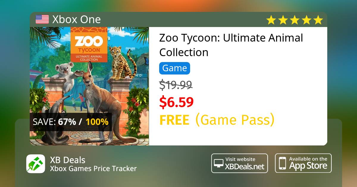 100% discount on Zoo Tycoon: Ultimate Animal Collection Xbox One
