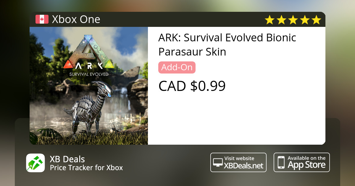 ark survival evolved bionic parasaur skin xbox one buy online and