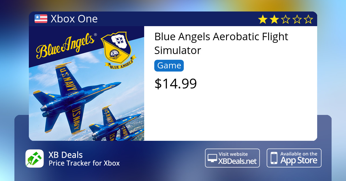 Blue Angels Aerobatic Flight Simulator Xbox One — buy online and track  price - XB Deals United States