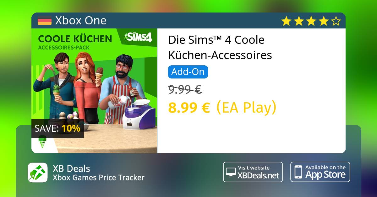 10 Discount On Die Sims 4 Coole Kuchen Accessoires Xbox One Buy
