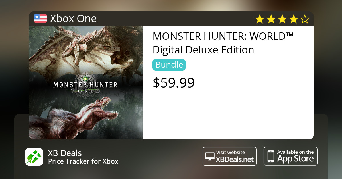 MONSTER HUNTER: WORLD™ Digital Deluxe Edition Xbox One — buy online and  track price - XB Deals United States