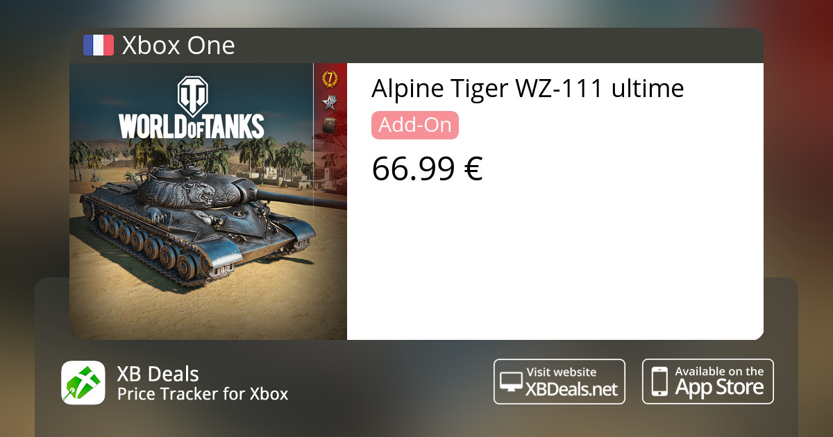 Alpine Tiger WZ-111 ultime Xbox One — buy online and track price - XB Deals  France