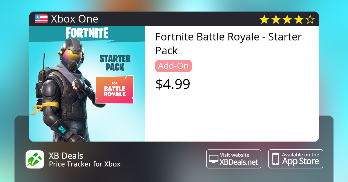 Fortnite Battle Royale Starter Pack Xbox One Buy Online And
