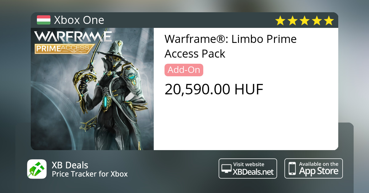 Warframe®: Limbo Prime Access Pack Xbox One — buy online and track price -  XB Deals Hungary