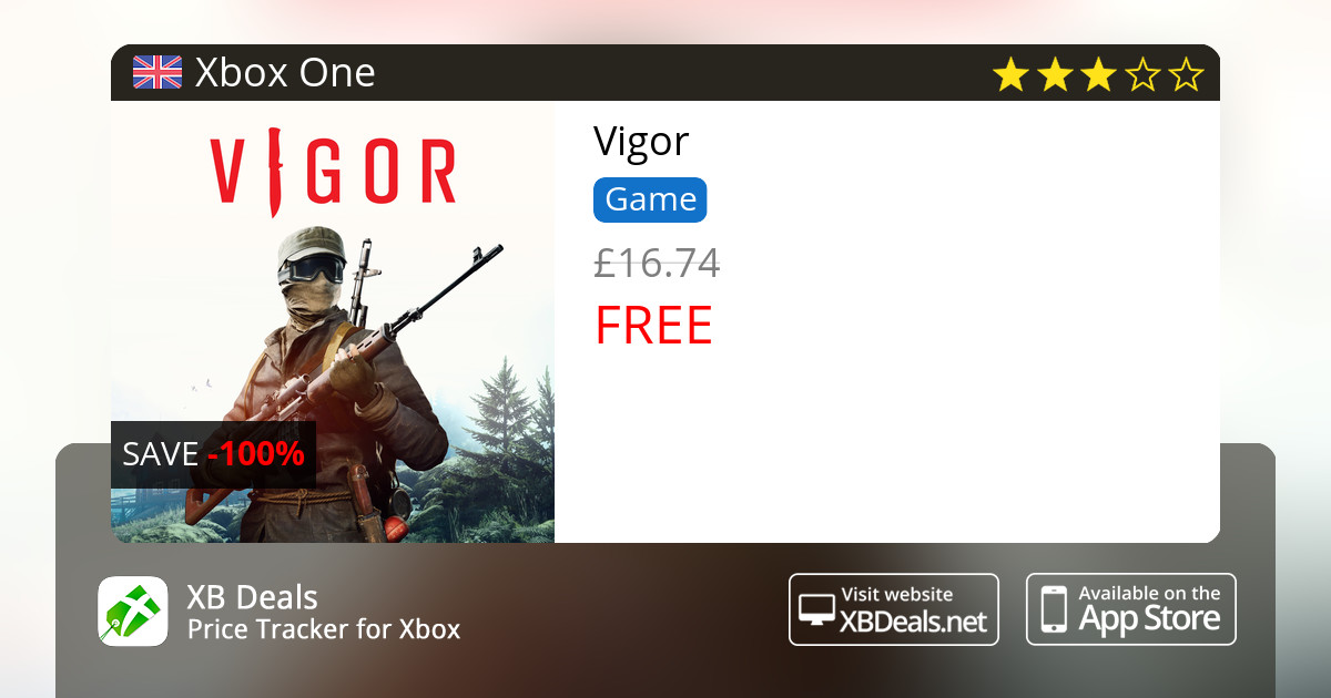 100% discount on Vigor Xbox One — buy online - XB Deals
