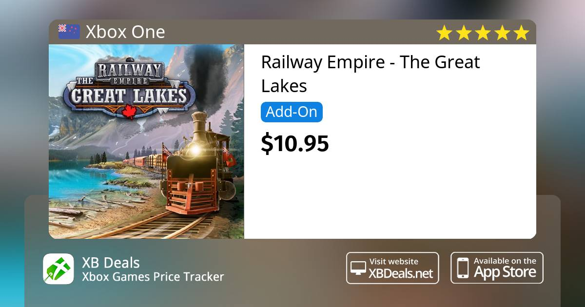 Railway Empire - The Great Lakes Xbox One — buy online and track price - XB  Deals New Zealand