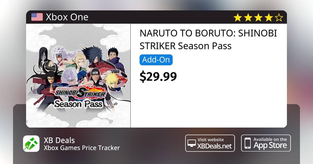 75% discount on NARUTO TO BORUTO: SHINOBI STRIKER Season Pass Xbox One —  buy online - XB Deals United States