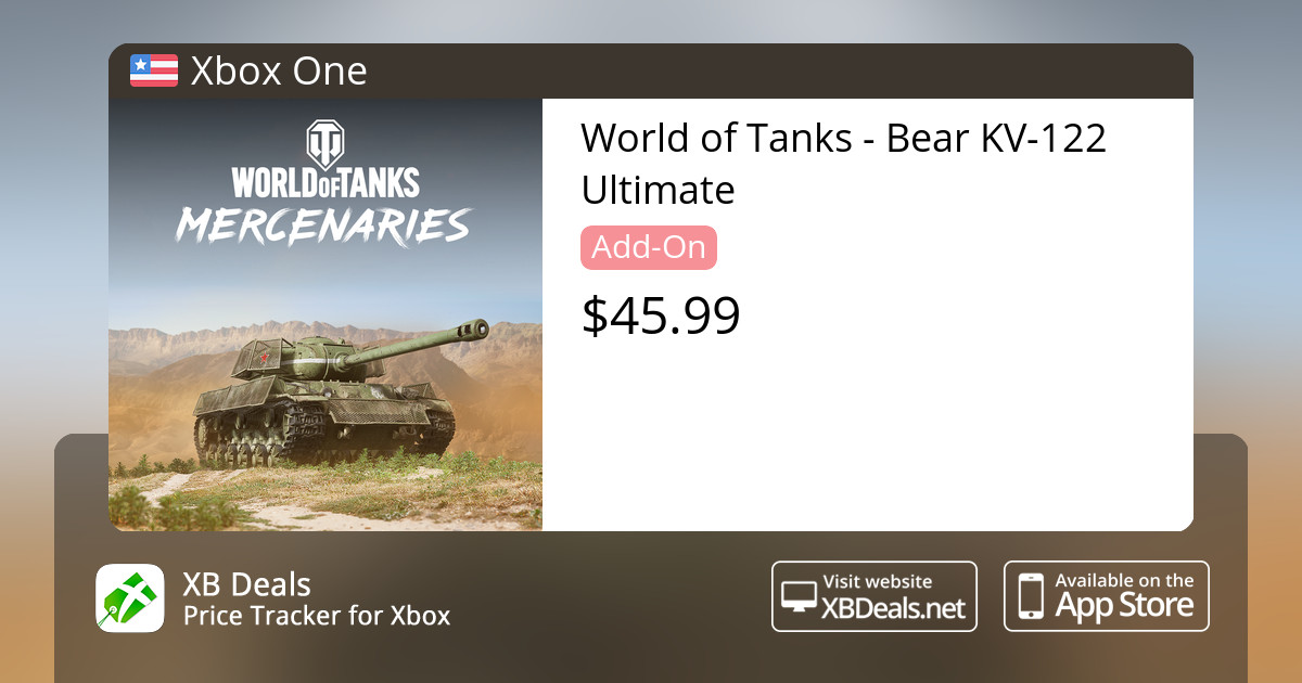 World of Tanks - Bear KV-122 Ultimate Xbox One — buy online and track price  - XB Deals United States