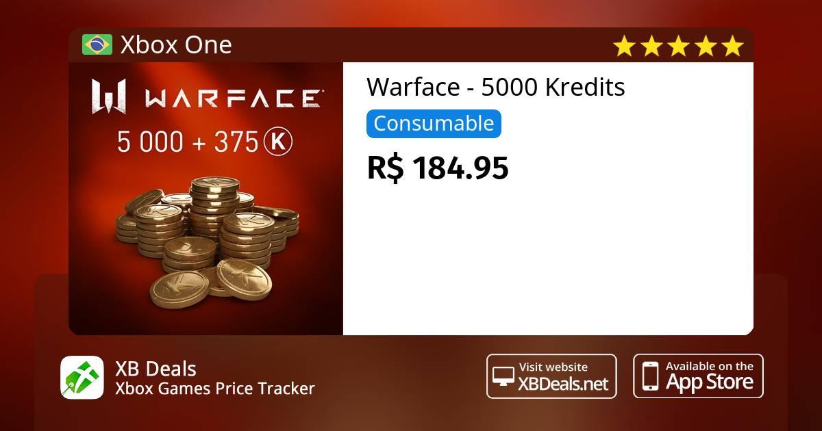 Warface - 5000 Kredits Xbox One — buy online and track price - XB Deals  Brazil