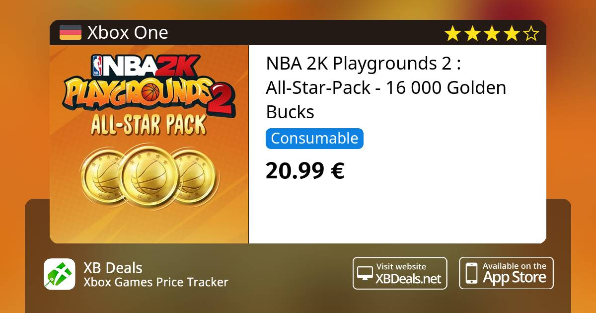 NBA 2K Playgrounds 2 : All-Star-Pack - 16 000 Golden Bucks Xbox One — buy  online and track price - XB Deals Germany