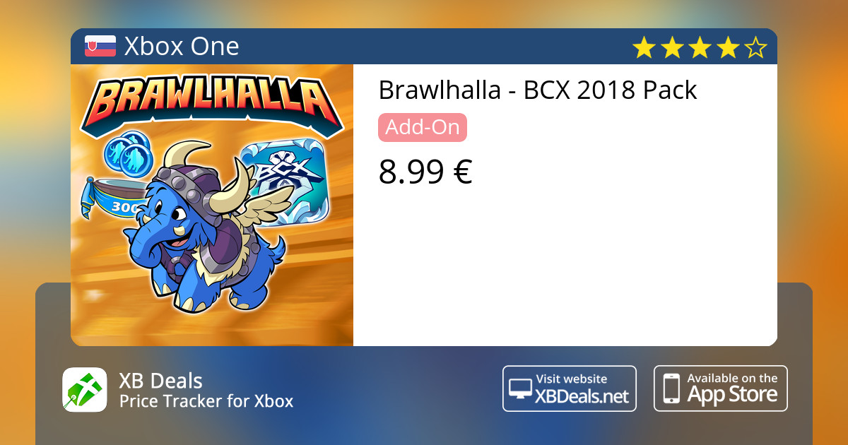 Brawlhalla - BCX 2018 Pack Xbox One — buy online and track price - XB Deals  Slovakia