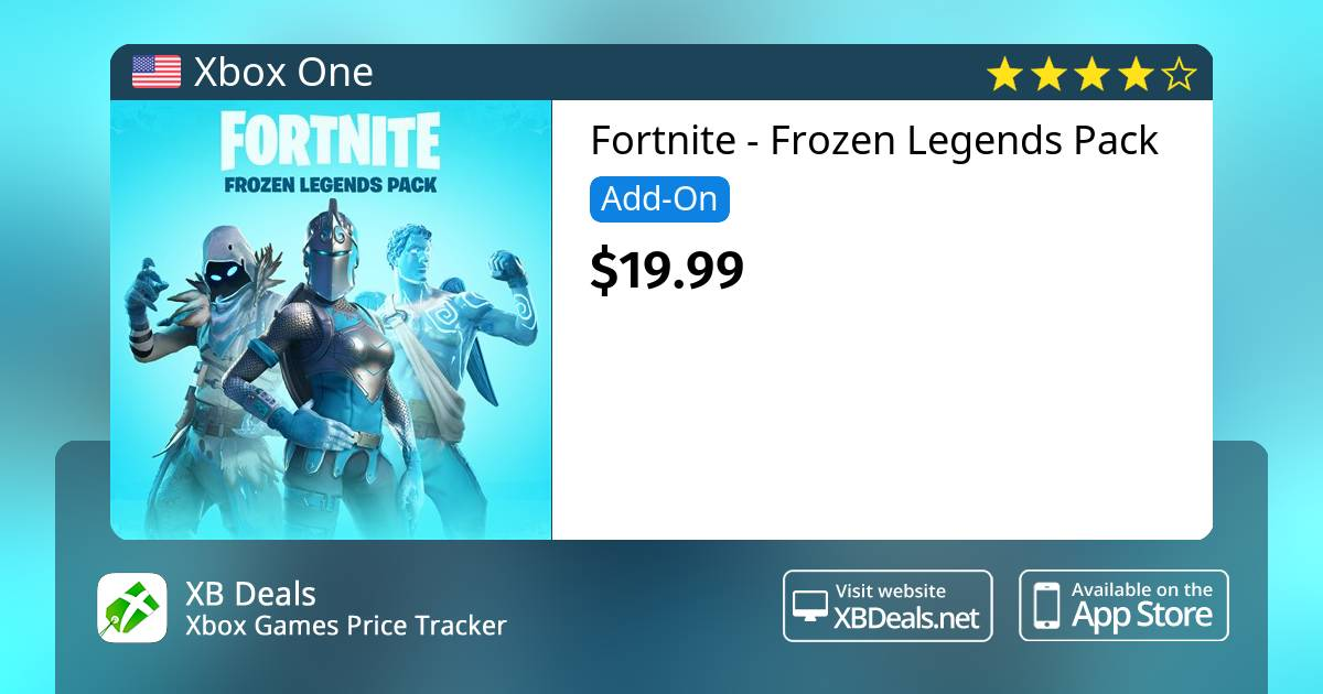 Fortnite Frozen Legends Pack Xbox One Buy Online And Track Price