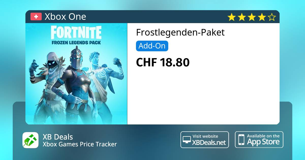 fortnite frostlegenden paket xbox one buy online and track price xb deals switzerland - fortnite paket