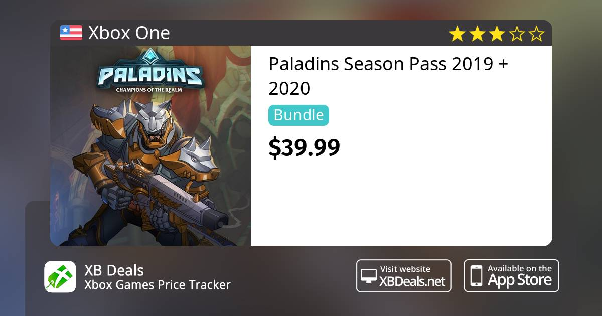 Paladins Season Pass 2019 Xbox One — buy online and track price - XB Deals  United States