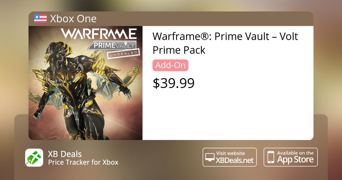 Warframe®: Prime Vault – Volt Prime Pack Xbox One — buy online and track  price - XB Deals United States