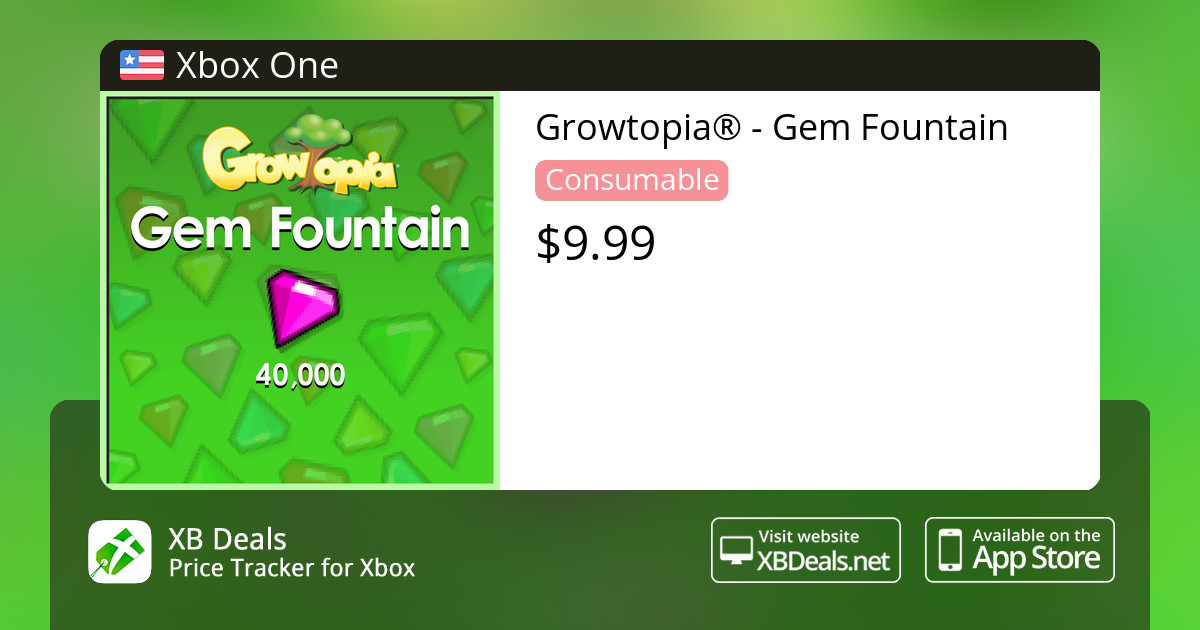 Growtopia® - Gem Fountain Xbox One — buy online and track price - XB Deals  United States