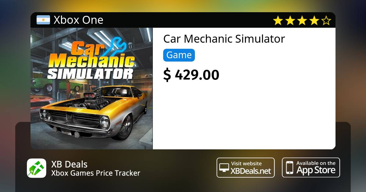 Car Mechanic Simulator Xbox One Buy Online And Track Price Xb Deals Argentina