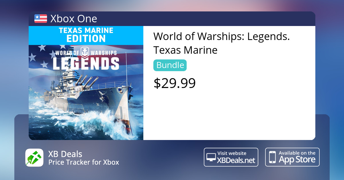 World of Warships: Legends  Texas Marine Xbox One — buy online and track  price - XB Deals United States