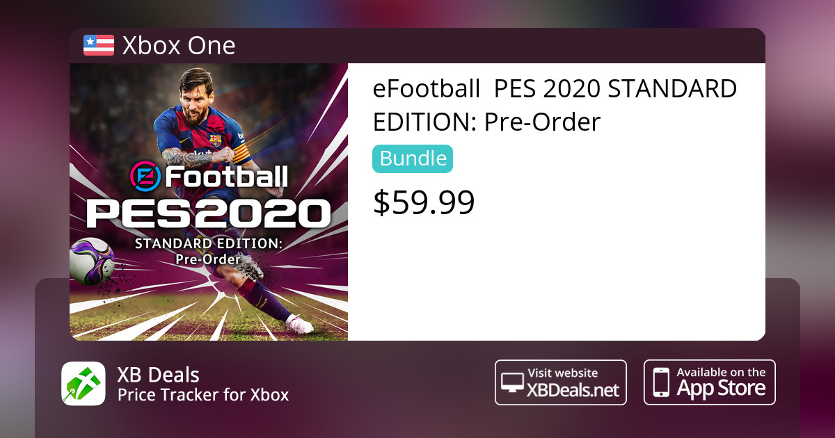 eFootball PES 2020 STANDARD EDITION: Pre-Order Xbox One — buy online and  track price - XB Deals United States