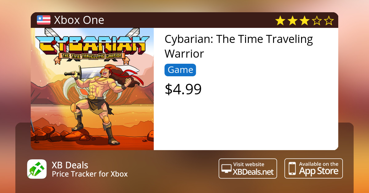 Cybarian: The Time Traveling Warrior Xbox One — buy online and track price  - XB Deals United States