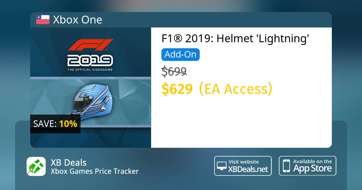 F1® 2019: Helmet 'Lightning' Xbox One — buy online and track price - XB  Deals Chile