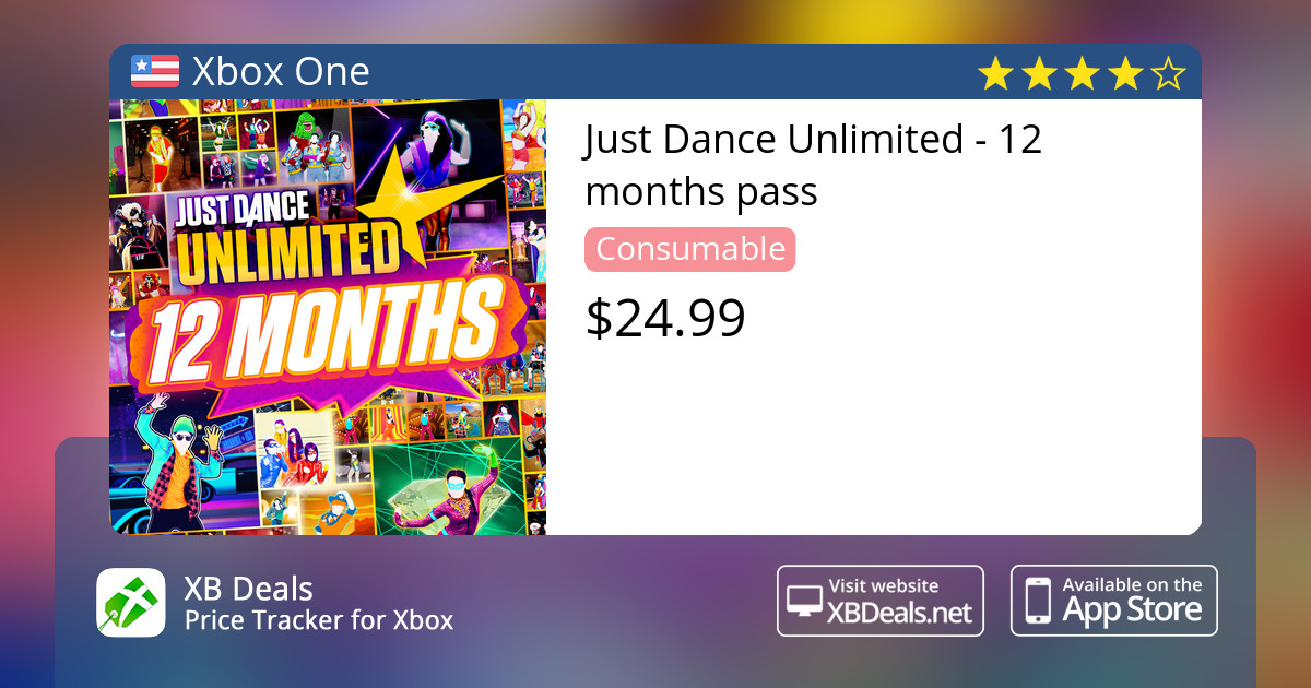 Just Dance Unlimited - 12 months pass Xbox One — buy online and track price  - XB Deals United States