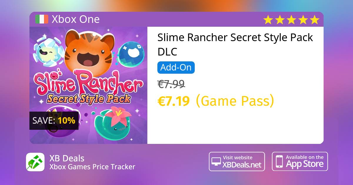 Slime Rancher Secret Style Pack DLC Xbox One — buy online and track price -  XB Deals Ireland