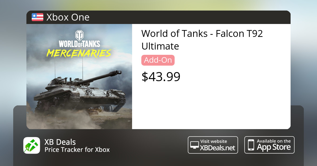 World of Tanks - Falcon T92 Ultimate Xbox One — buy online and track price  - XB Deals United States