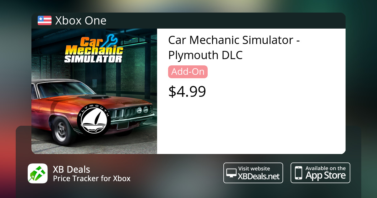 Car Mechanic Simulator - Plymouth DLC Xbox One — buy online and track price  - XB Deals United States