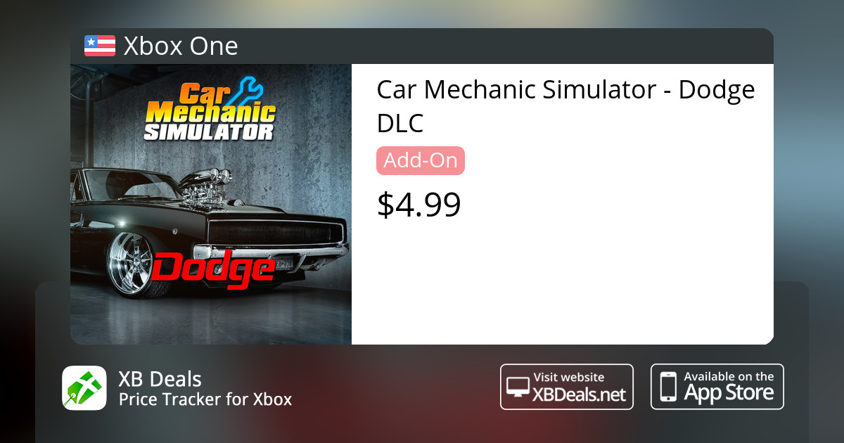 Car Mechanic Simulator - Dodge DLC Xbox One — buy online and track price -  XB Deals United States