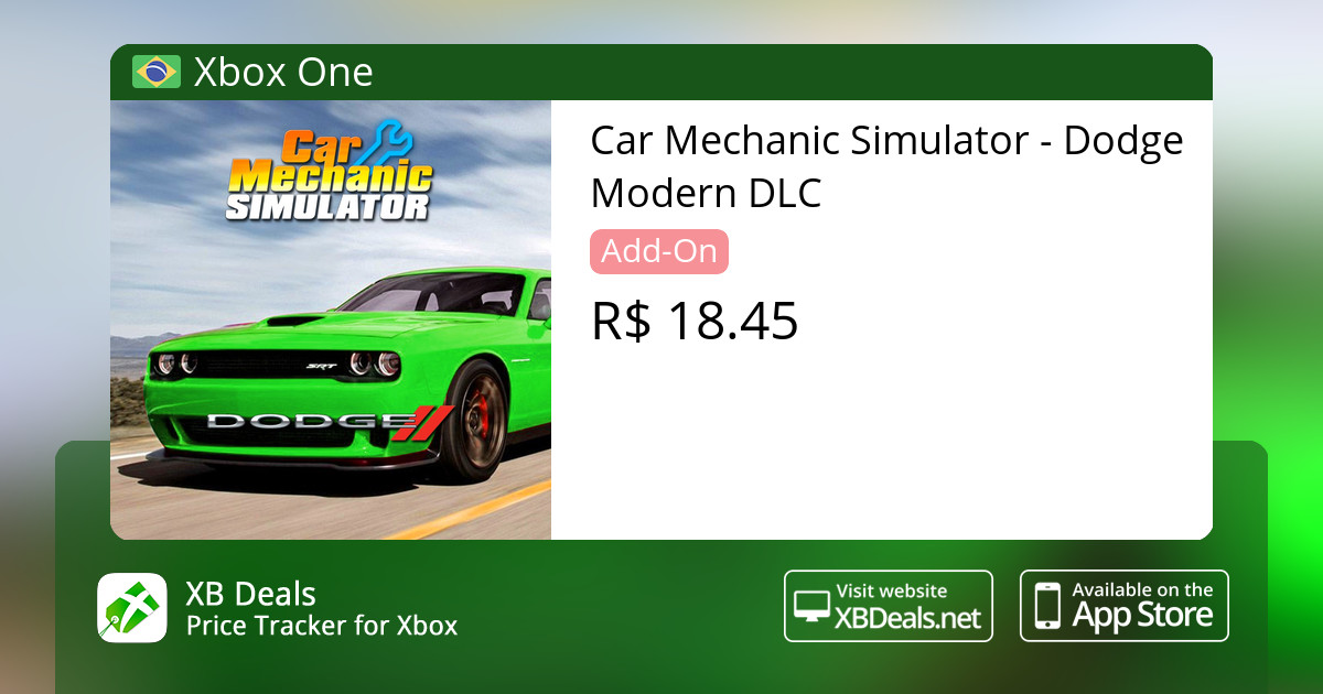 Car Mechanic Simulator - Dodge Modern DLC Xbox One — buy online and track  price - XB Deals Brazil
