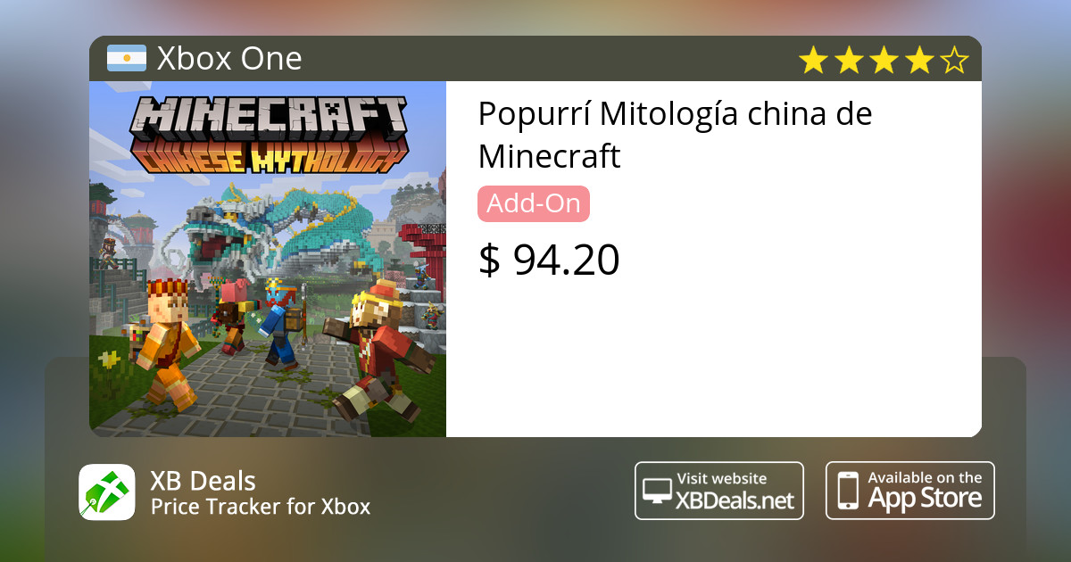 Popurrí Mitología china de Minecraft Xbox One — buy online and track price  - XB Deals Argentina