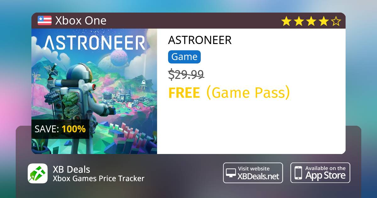 100% discount on ASTRONEER Xbox One — buy online - XB Deals United